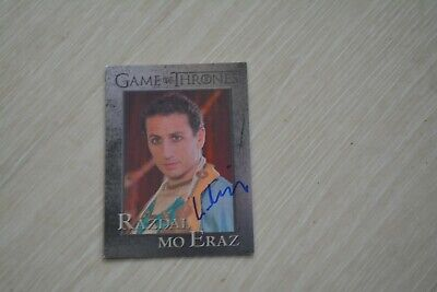 GEORGE GEORGIU signed autograph In Person GAME OF THRONES trading card