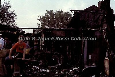 SG179 35mm Slides June 1978 Wildwood NJ, Clean up after the fire. Lot of 15