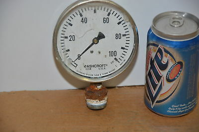 4stainless Ashcroft Pressure Gauge 0-100 Psi Inv14263