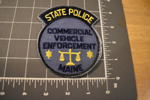 Vintage State Police Commercial Vehicle Enforcement ME Police Patch