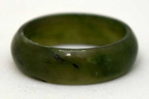 Chinese Untreated/Undyed Jade Ring Size 7 3/4