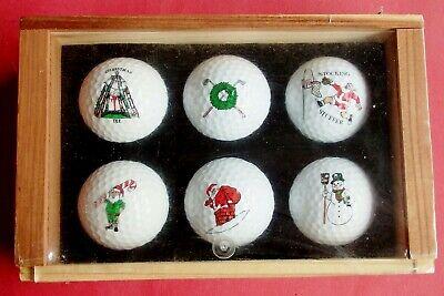 BOX OF 6 NEW CHRISTMAS-THEMED GOLF BALLS (SANTA, ELF, SNOWMAN) - FROM