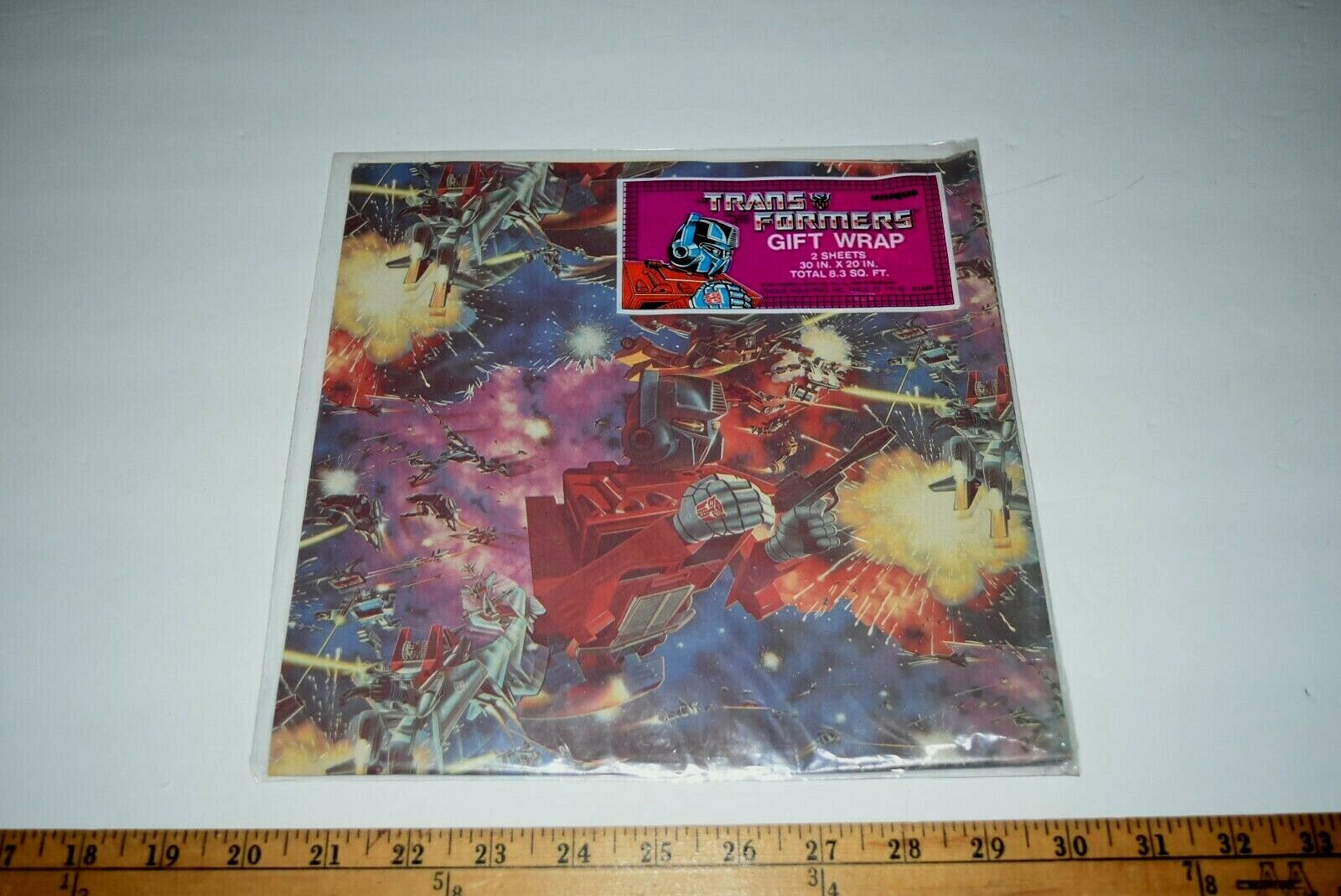 1984 Transformers Optimus Prime Gift wrap sealed