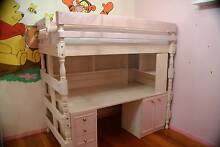 Loft Bed with desk, shelves, drawers and cupboard. excellent cond Caulfield North Glen Eira Area Preview