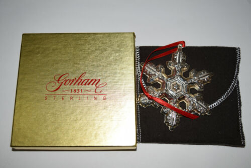 Gorham Annual Sterling Snowflake Ornament 1997 Used Writing on Box No Card