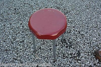 Ancien tabouret SUPRAPLUS industrie vintage art deco rouge