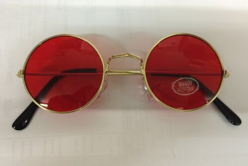John Lennon Style Red Sunglasses Woody Harrelson Natural Born Killers Glasses