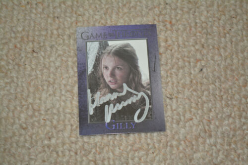 HANNAH MURRAY  signed autograph In Person trading card GAME OF THRONES