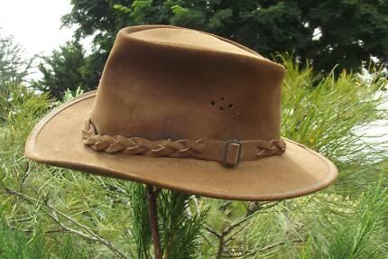 jimy black's leather bush HAT