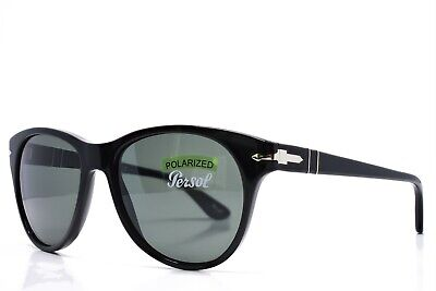 PERSOL Sunglasses Black Polarized Brand New Authentic 3134S 95/58 3P Glass (Persol Polarized Lenses)