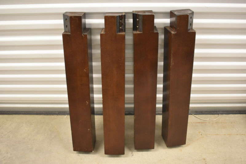 Wood Table Legs - Used / Salvage - 29 inches tall- 4 1/4 inches wide