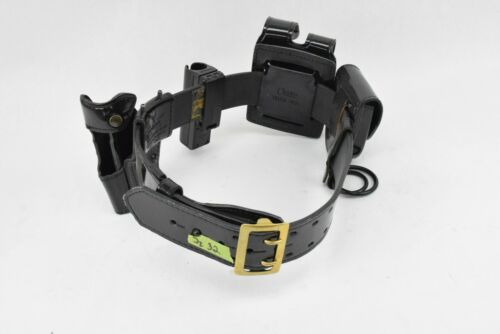 Gould & Goodrich Gold Buckle Safariland Holster Police Duty Belt