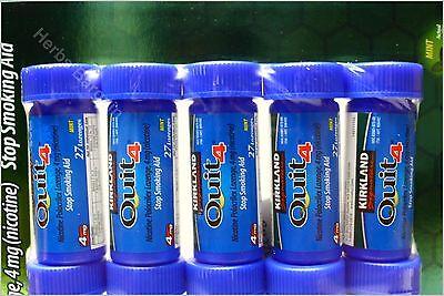 135 Kirkland Quit 4 Nicotine Lozenges 4 mg Stop Smoking Aid New Free Shipping