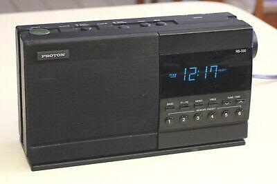 Proton RS-330 Digital AM/FM Dual Alarm Clock Radio