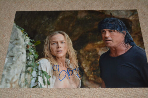 JULIE BENZ signed Autogramm 30x45 cm In Person RAMBO Sylvester Stallone POSTER