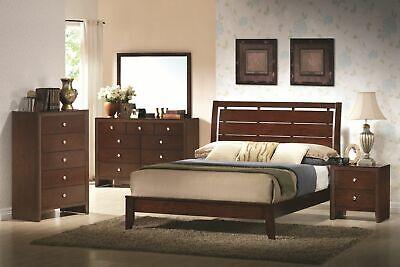 Bed Nightstand Dresser Mirror Chest - Modern Bedroom 5 Piece Furniture Set Bed Dresser Mirror Chest Night Stands