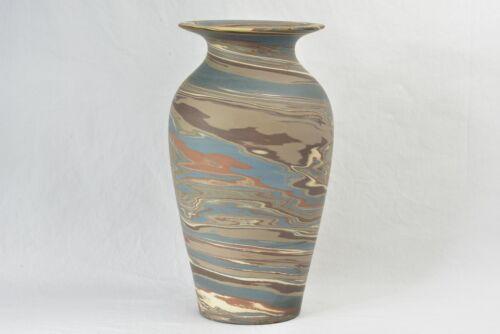 Niloak Pottery 1910-24 Mission Swirl Vase Shape I 10.25 inch