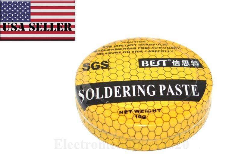 BEST 10g Soldering Paste Solder Flux Patse, Grease Assistant PCB Solder - USA