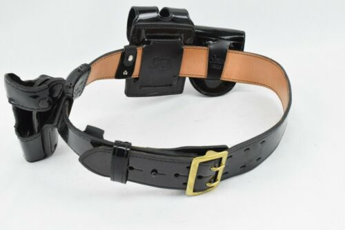 Gould & Goodrich Gold Buckle Safariland Holster Police Duty Belt Size 36