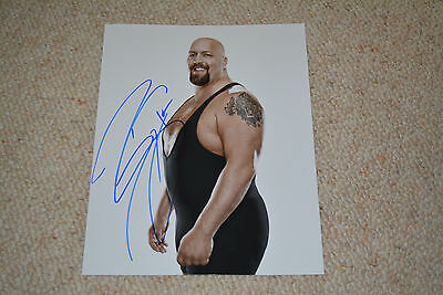 BIG SHOW  signed Autogramm 20x25 cm In Person WWE RAW