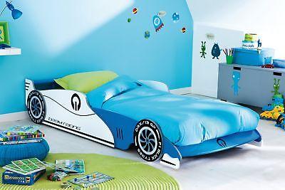 Jugend Rennen (Autobett + Rollrost Kinderbett Autorennbett Jugendbett Kinderzimmer Bett B-WARE)