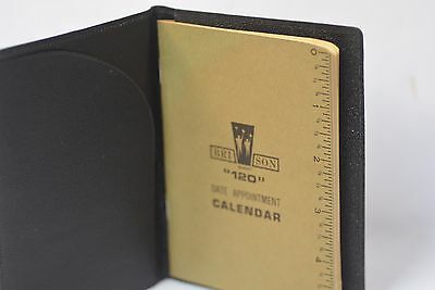 NEW Vintage BRI-SON #120 LEATHER  DATE APPOINTMENT CALENDAR Card Wallet BI-Fold
