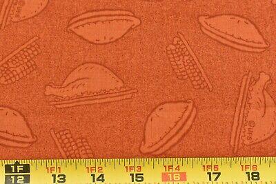Peanuts Thanksgiving Dinner (By 1/2 Yd, Orange & Brown Thanksgiving Dinner Quilt Cotton, Peanuts,)
