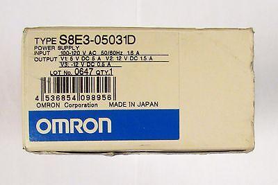 Omron Power Supply 100-120 Vac 5-12 Vdc .5-1.5 Amp S8e3 05031d