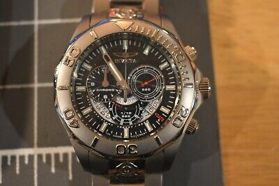 Invicta Pro Diver Chronograph Watch model 6503 Titanium Swiss Made