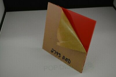 Red Plexiglass Acrylic Sheet Color 2793 Red  18 X 7 X 11