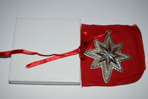 Lunt Annual Sterling Star Ornament 1998