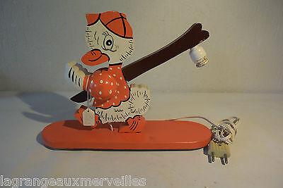 Très ancien jouet en bois avec lampe old toy