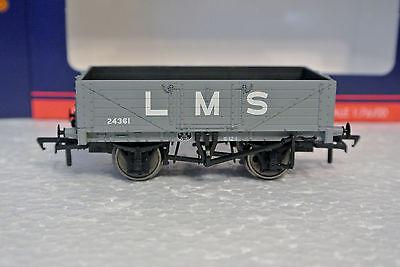 Bachmann Branch-Line 37-070 OO/HO 5 Plank Wagon LMS Grey C-9 NIB