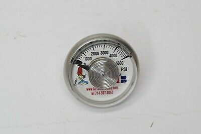 New 0-5000 Psi 1.5 High Pressure Air Tank Gauge 18 Npt 5000psi Hpa Paintball