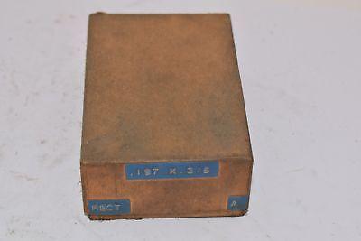 Punch Die Set Roper Whitney Press Diacro .197 X .315 Rectangle Missing Die
