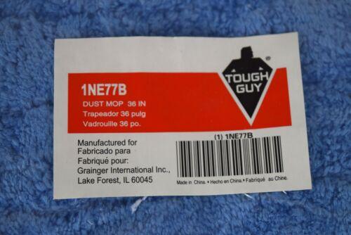"Tough Guy 36"" Microfiber Dust Mop Pad (New) 5 pack Blue 1NE77B"