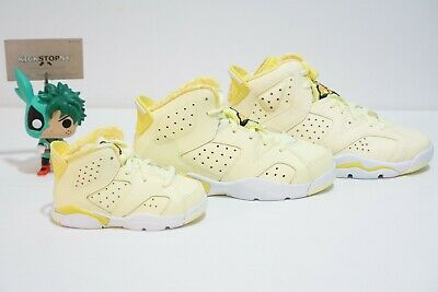 Air Jordan 6 VI Dynamic Yellow Floral Citrin Tint - GS TD PS IN HAND (Tinted Yellow)