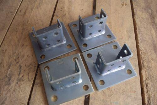 Qty: 8 Unistrut  P2073A SQ EG Squared Post Base  Double Channel
