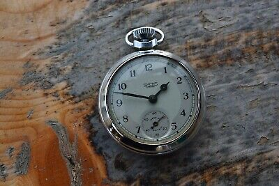 Vintage Smiths Empire Chrome Man's Pocket Watch not Working