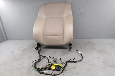 2011 BMW 750i F01 F02 Front Right Passenger Seat Upper Cushion Backrest Oyster