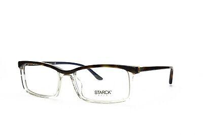 STARCK EYES New Men's Rx Eyeglasses SH3037 0008 Havana Clear Blue 54-16-140