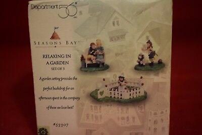Dept 56 RELAXING IN A GARDEN  Seasons Bay Collection   #53307  NIB   (Q1117L)