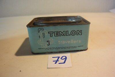 C79 Ancienne boite en métal publicitaire England Temlon 2