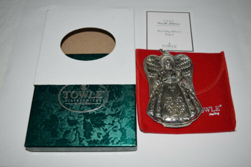 Towle Annual Sterling Angel Ornament 1999 Used
