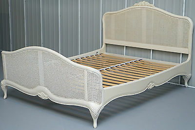 RRP £1789 WILLIS & GAMBIER IVORY COLLECTION KINGSIZE BED FRAME BEECH WOOD