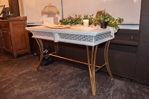 Table console blanche vintage