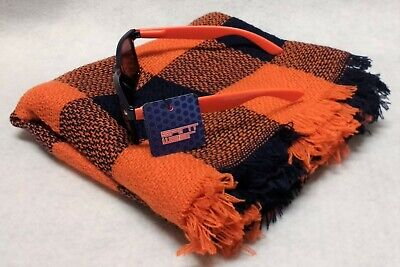 Syracuse Orange Team Color Buffalo Check Scarf AND Classic Sunglasses (Syracuse Sunglasses)