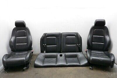 2001 AUDI TT MK1 98-06 BLACK LEATHER INTERIOR SEATS SET FRONT LEFT RIGHT & REAR