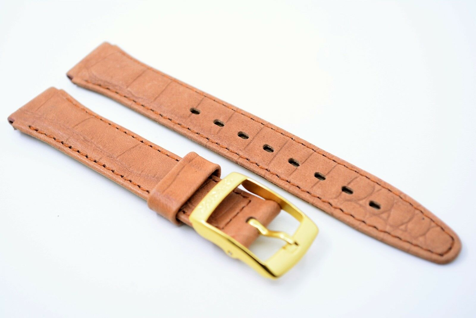 UNITED COLORS OF BENETTON Uhrenarmband Echtleder Bracelet 14 mm Braun Kroko