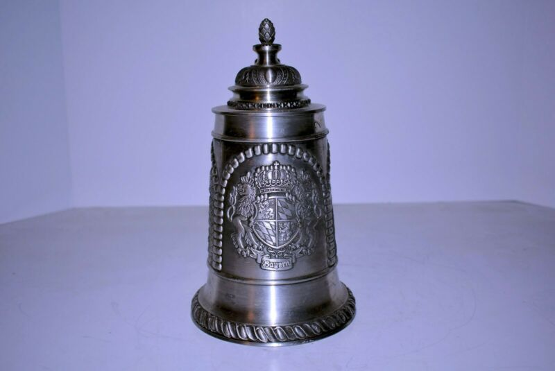 Domex Pewter stein. Condition is good.  95% Zinn